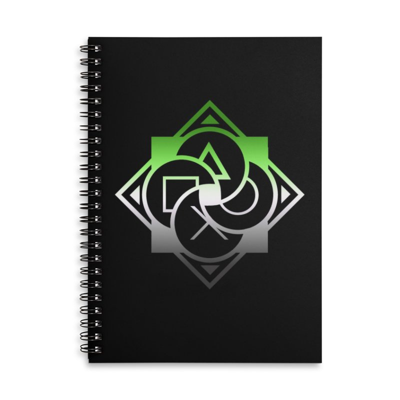 Logo - Aromantic Pride Accessories Lined Spiral Notebook by Queer Women Game Loot