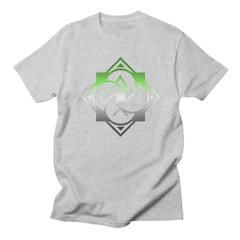 Logo - Aromantic Pride Women's Regular Unisex T-Shirt by Queer Women Game Loot