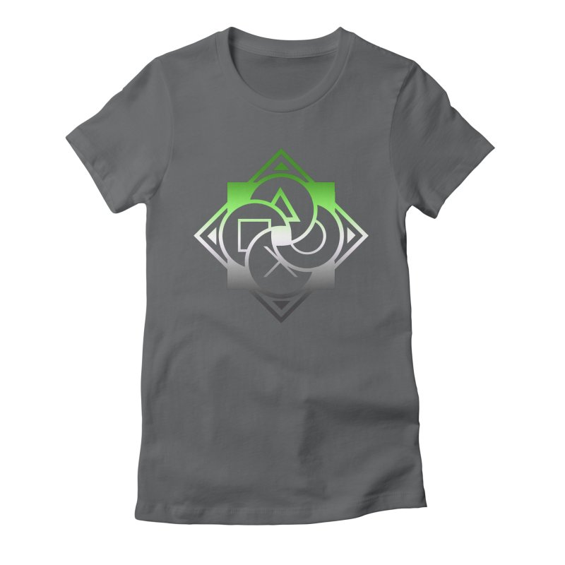 Logo - Aromantic Pride Women's Fitted T-Shirt by Queer Women Game Loot