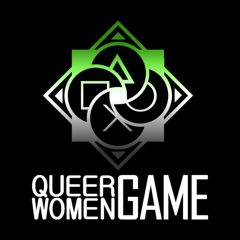 Logo & Text - Aromantic Pride Women's T-Shirt by Queer Women Game Loot