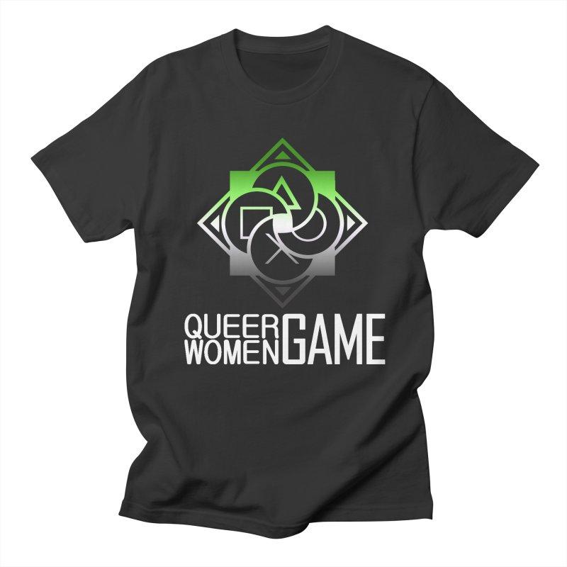 Logo & Text - Aromantic Pride Men's Regular T-Shirt by Queer Women Game Loot