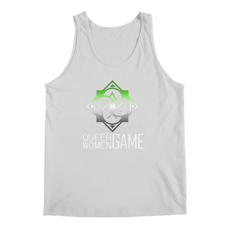 Logo & Text - Aromantic Pride Men's Regular Tank by Queer Women Game Loot
