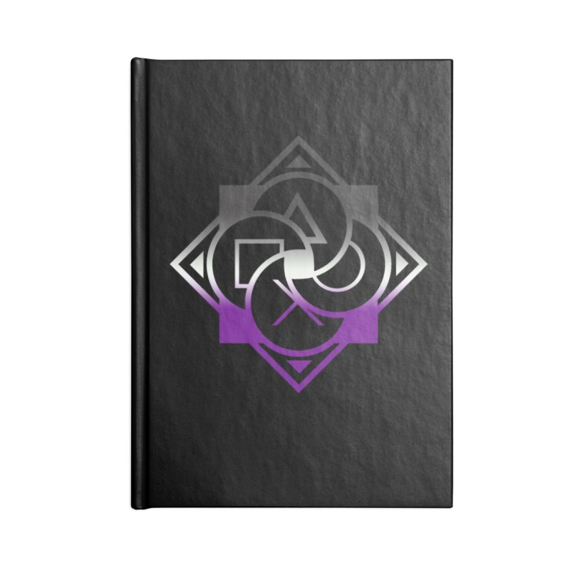 Logo - Asexual Pride Accessories Lined Journal Notebook by Queer Women Game Loot
