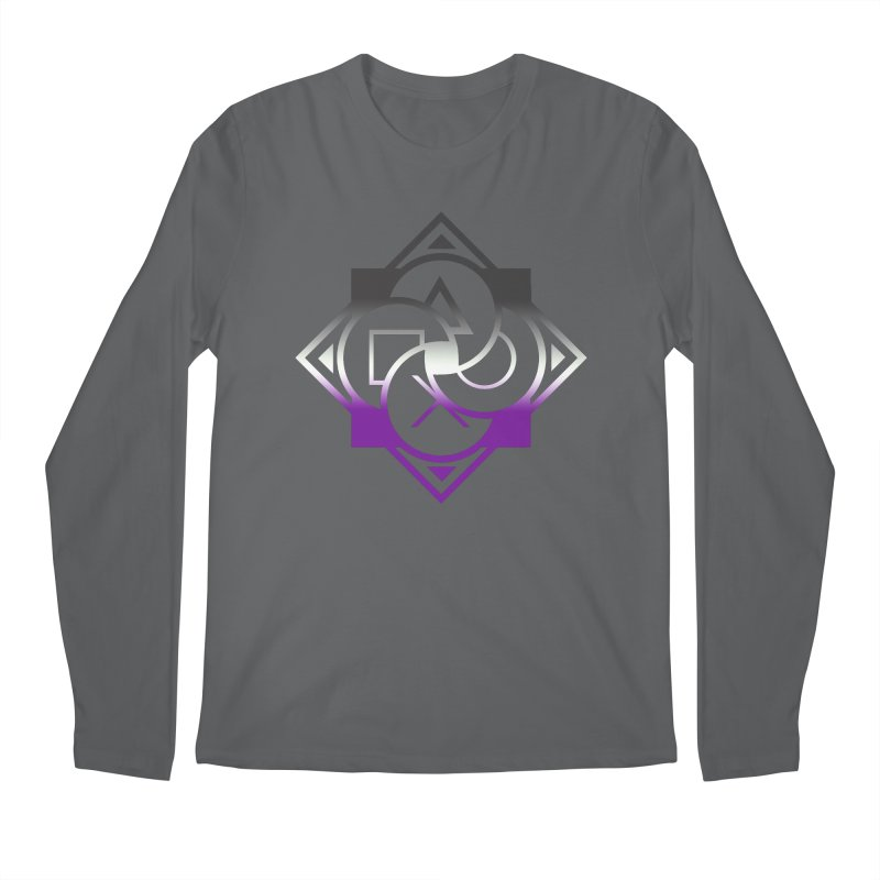 Logo - Asexual Pride Men's Longsleeve T-Shirt by Queer Women Game Loot
