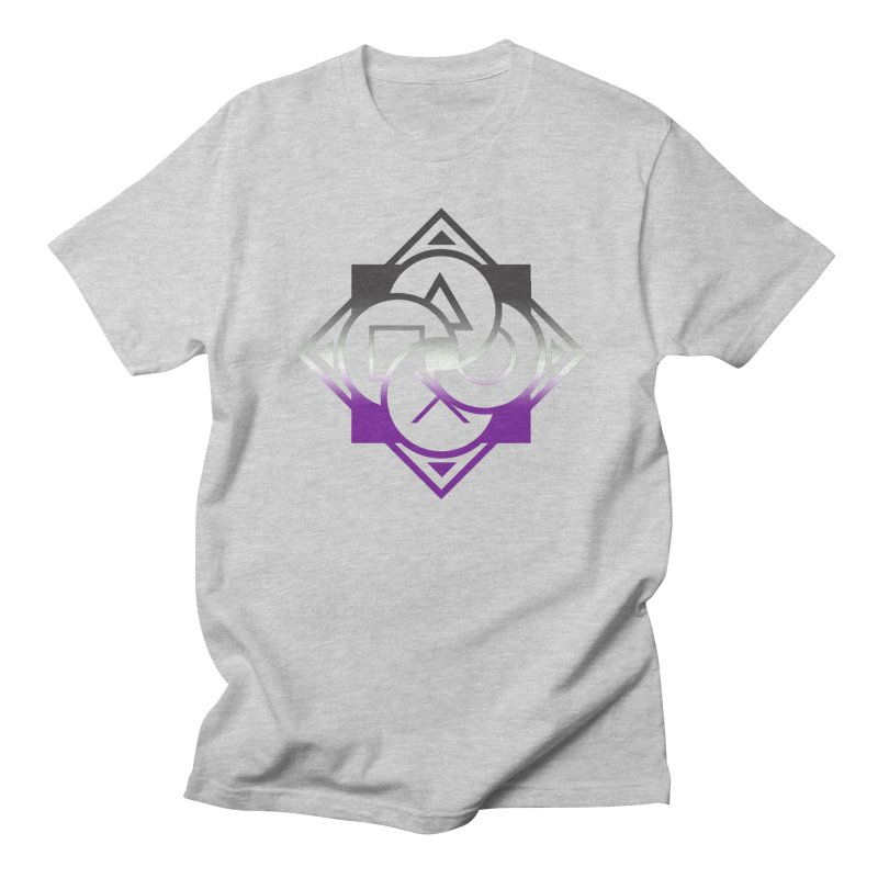 Logo - Asexual Pride Men's T-Shirt by Queer Women Game Loot