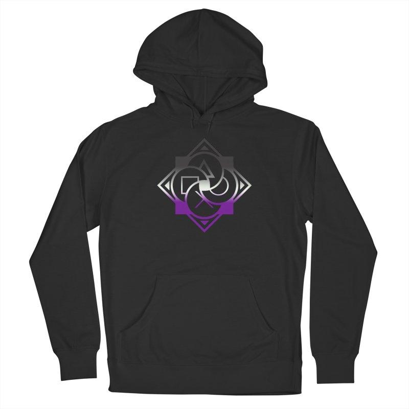 Logo - Asexual Pride Men's Pullover Hoody by Queer Women Game Loot