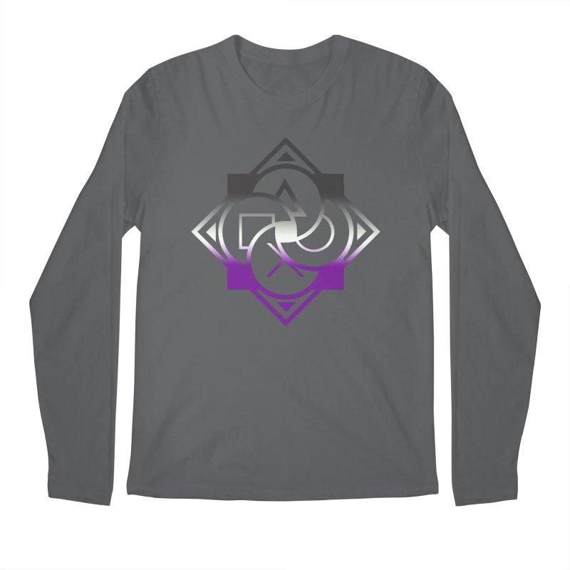 Logo - Asexual Pride Men's Longsleeve T-Shirt by Queer Women Game Loot