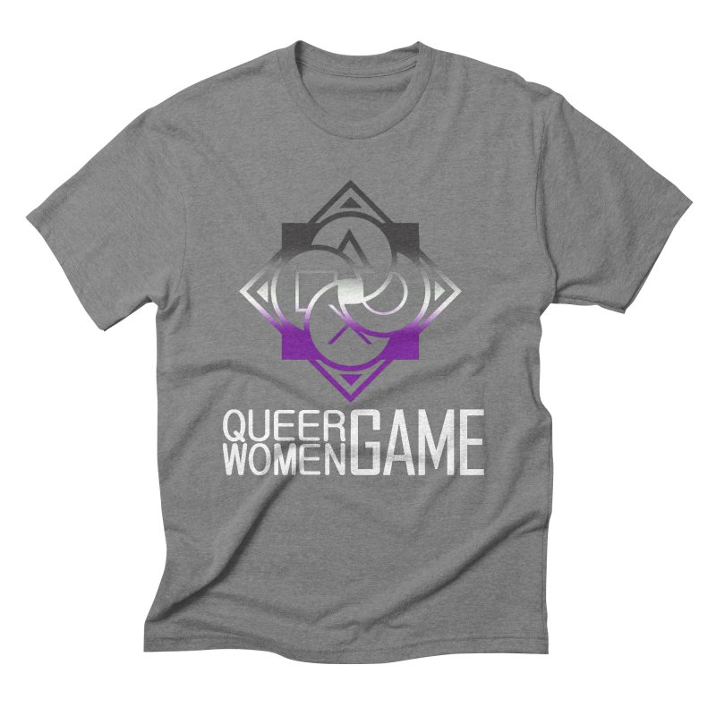 Logo & Text - Asexual Pride Men's T-Shirt by Queer Women Game Loot