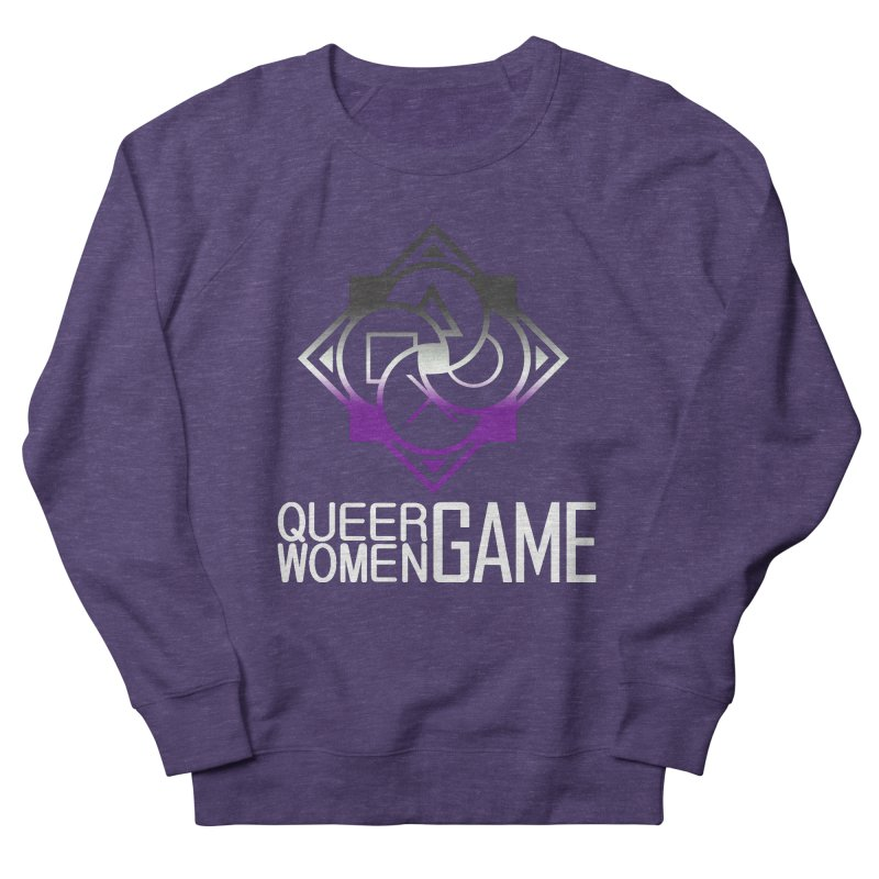 Logo & Text - Asexual Pride Men's Sweatshirt by Queer Women Game Loot