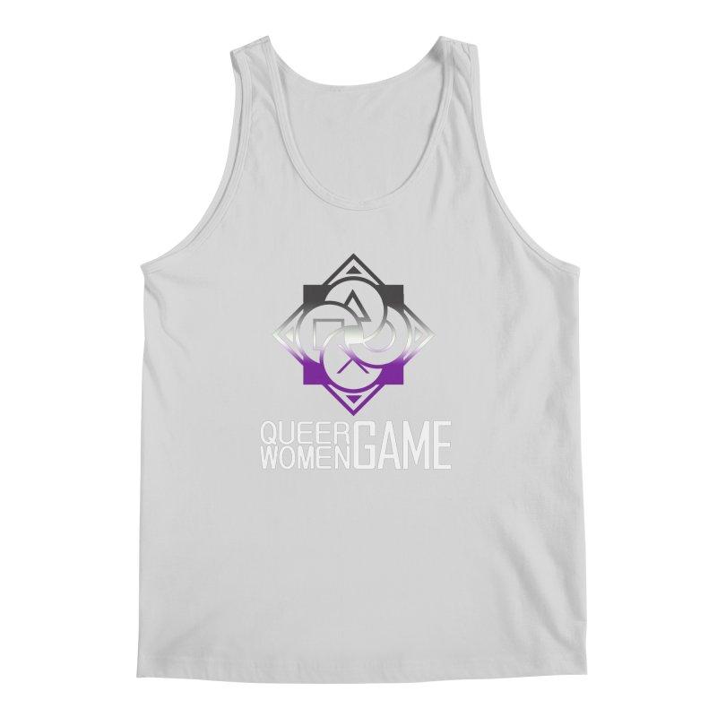 Logo & Text - Asexual Pride Men's Regular Tank by Queer Women Game Loot