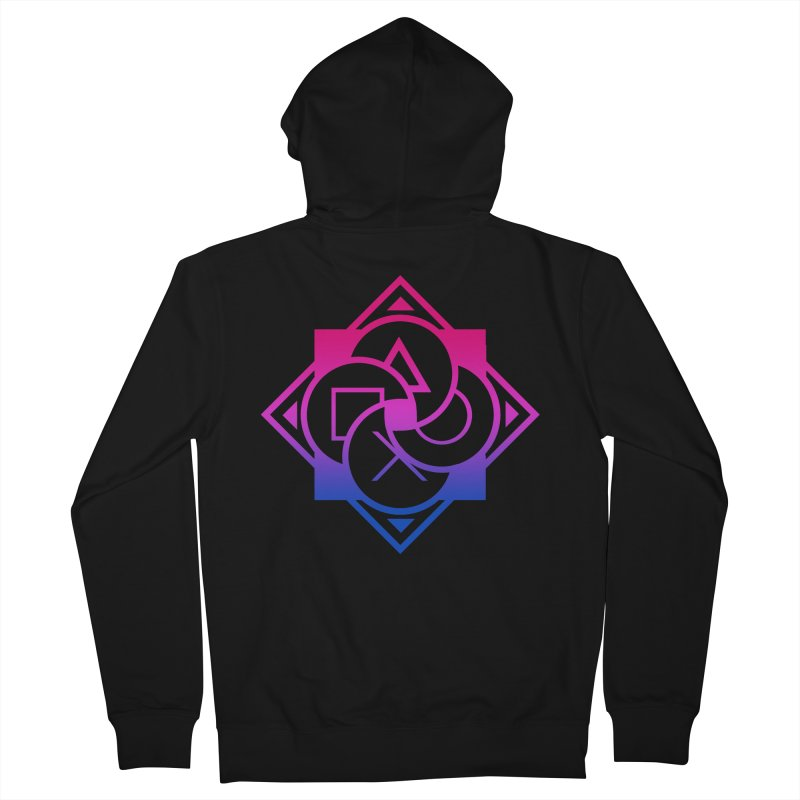 Logo - Bi Pride Men's Zip-Up Hoody by Queer Women Game Loot