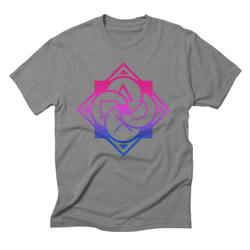 Logo - Bi Pride Men's T-Shirt by Queer Women Game Loot