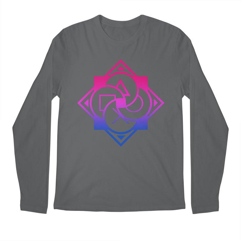 Logo - Bi Pride Men's Longsleeve T-Shirt by Queer Women Game Loot
