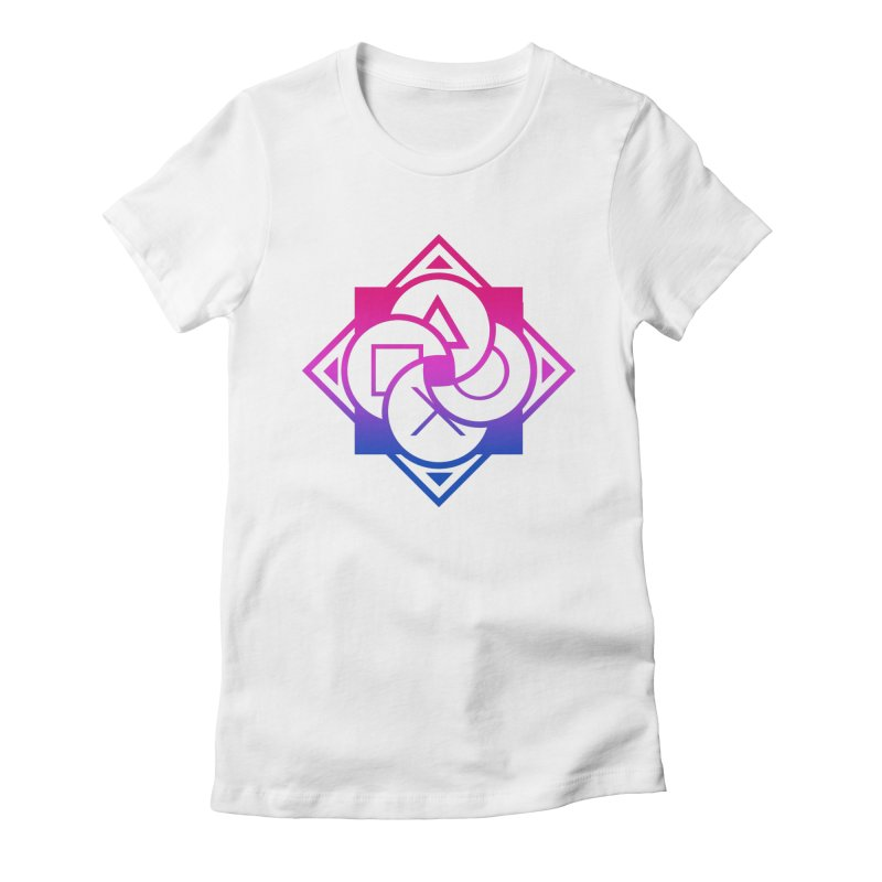 Logo - Bi Pride Women's Fitted T-Shirt by Queer Women Game Loot