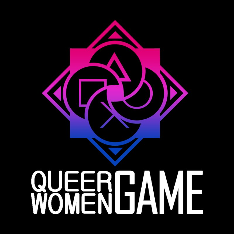 Logo & Text - Bi Pride Women's T-Shirt by Queer Women Game Loot