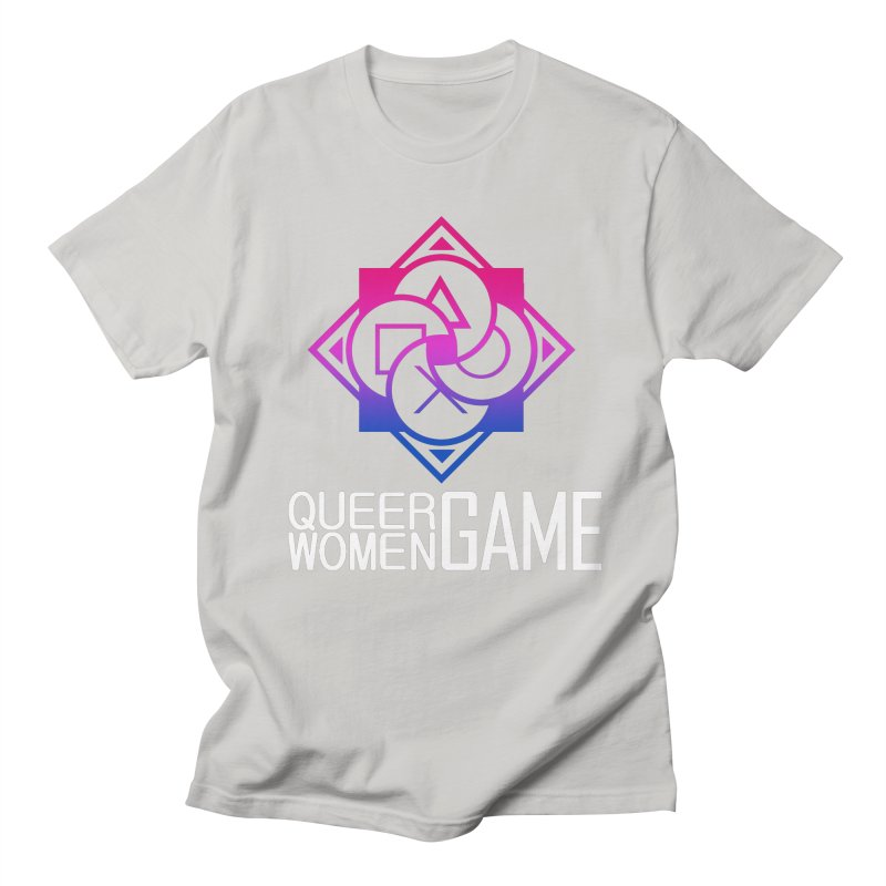 Logo & Text - Bi Pride Men's T-Shirt by Queer Women Game Loot