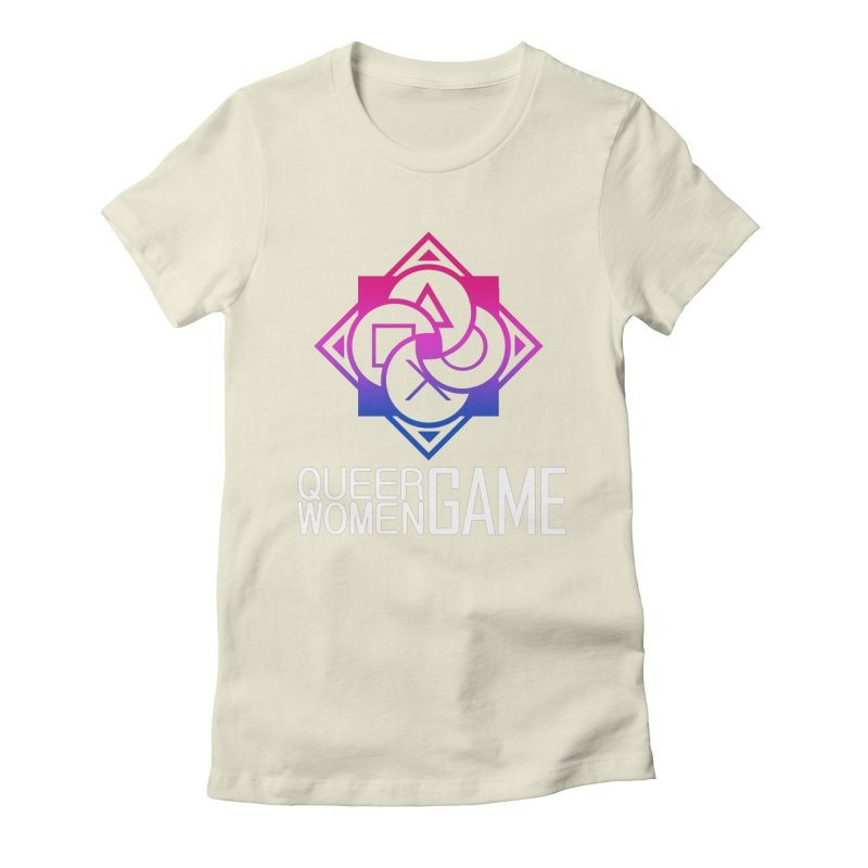 Logo & Text - Bi Pride Women's Fitted T-Shirt by Queer Women Game Loot