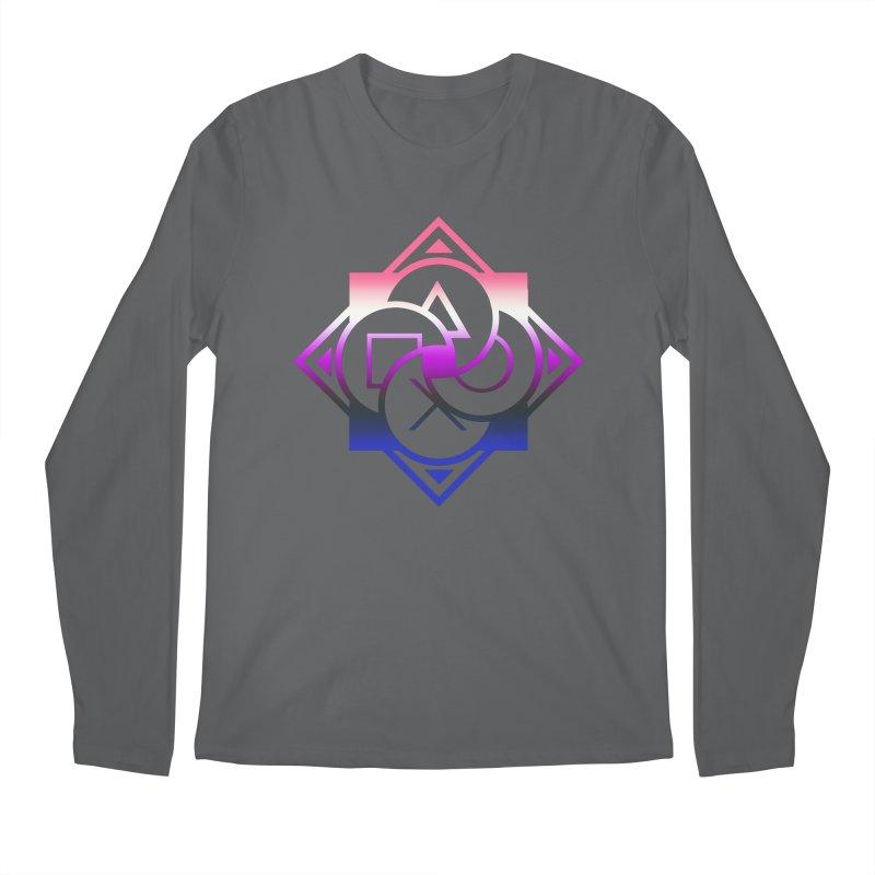 Logo - Genderfluid Pride Men's Longsleeve T-Shirt by Queer Women Game Loot