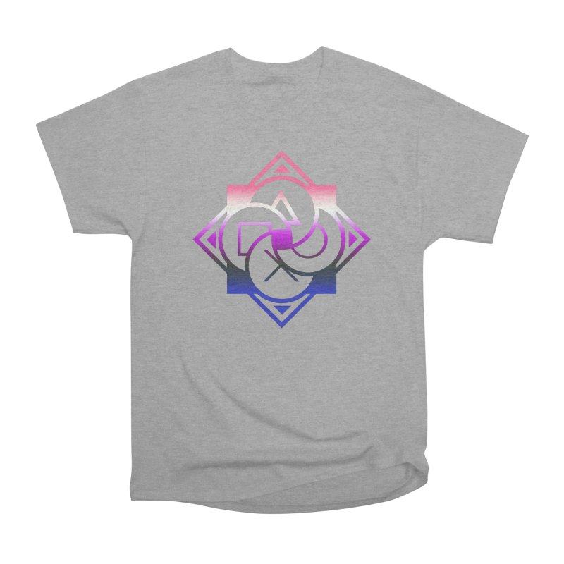 Logo - Genderfluid Pride Men's Heavyweight T-Shirt by Queer Women Game Loot