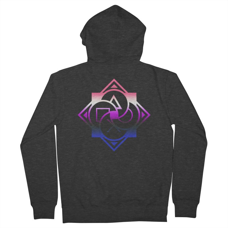 Logo - Genderfluid Pride Women's French Terry Zip-Up Hoody by Queer Women Game Loot