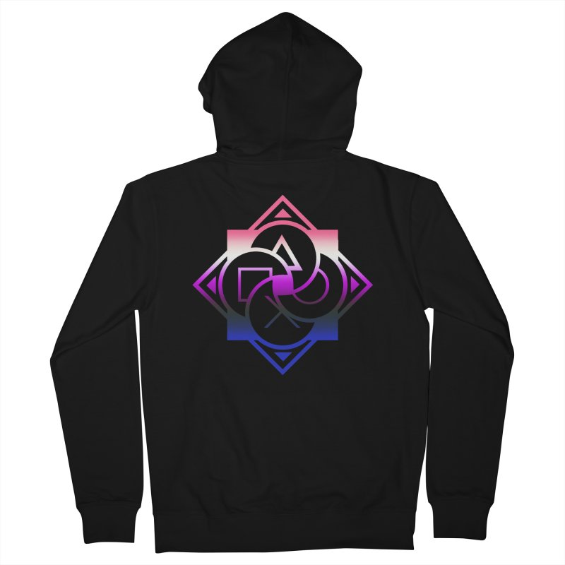 Logo - Genderfluid Pride Men's French Terry Zip-Up Hoody by Queer Women Game Loot