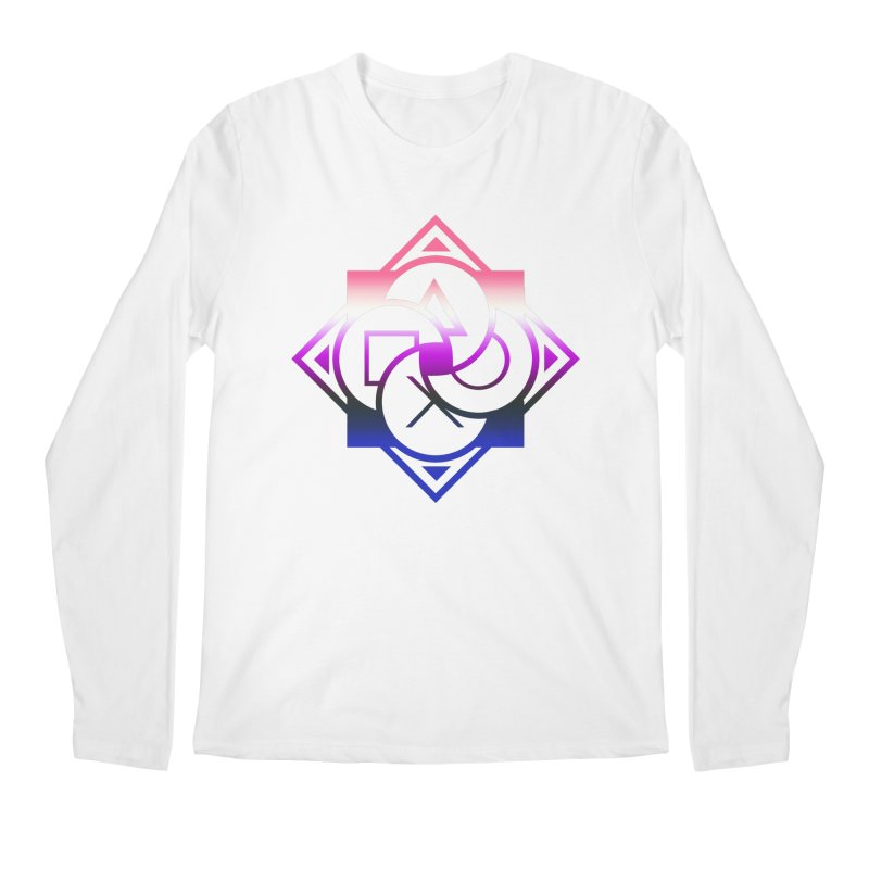 Logo - Genderfluid Pride Men's Regular Longsleeve T-Shirt by Queer Women Game Loot