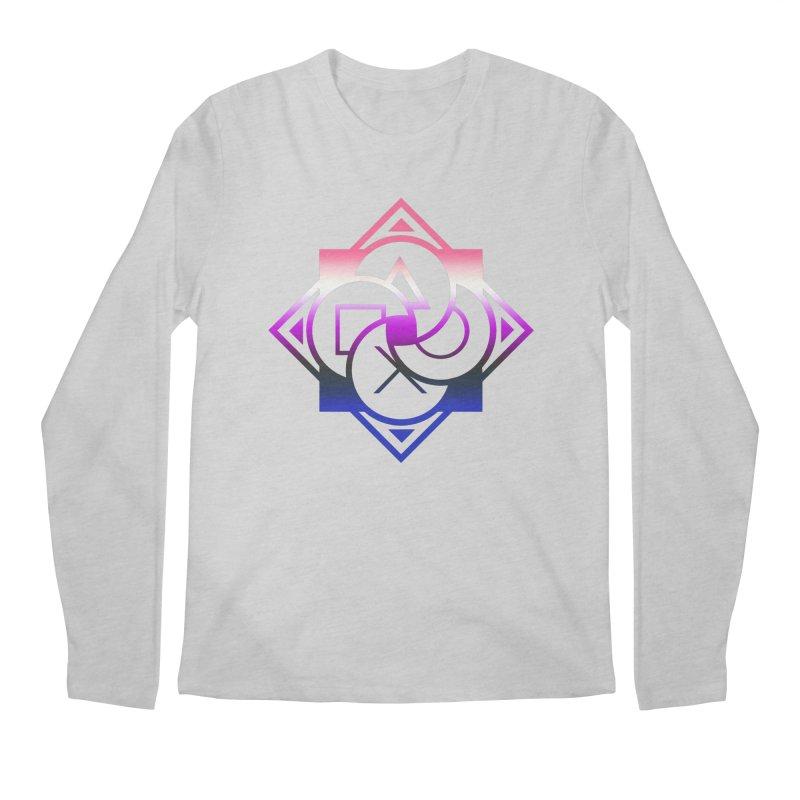 Logo - Genderfluid Pride Men's Regular Longsleeve T-Shirt by Queer Women Game Loot