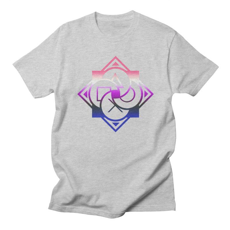 Logo - Genderfluid Pride Men's T-Shirt by Queer Women Game Loot