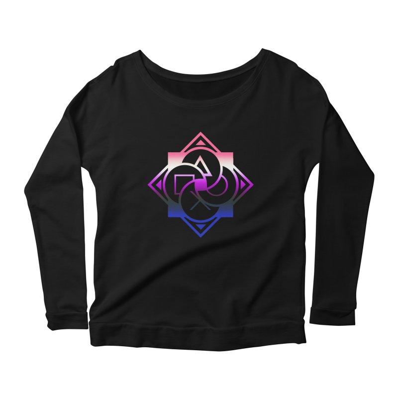 Logo - Genderfluid Pride Women's Scoop Neck Longsleeve T-Shirt by Queer Women Game Loot