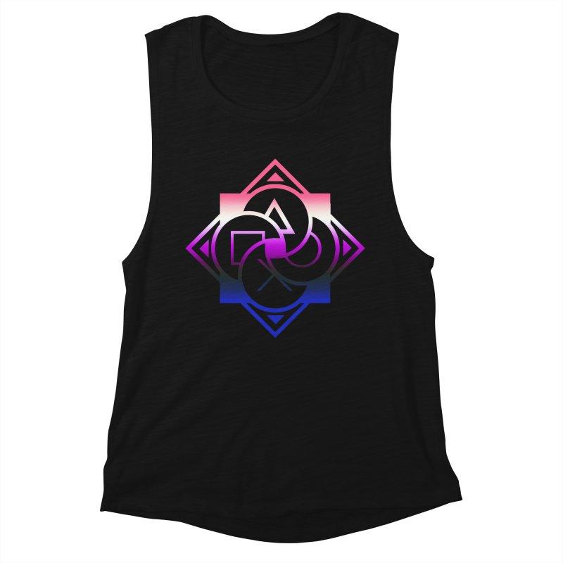 Logo - Genderfluid Pride Women's Muscle Tank by Queer Women Game Loot