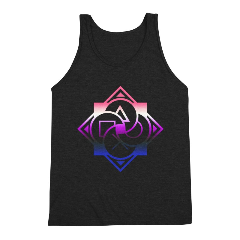 Logo - Genderfluid Pride Men's Triblend Tank by Queer Women Game Loot