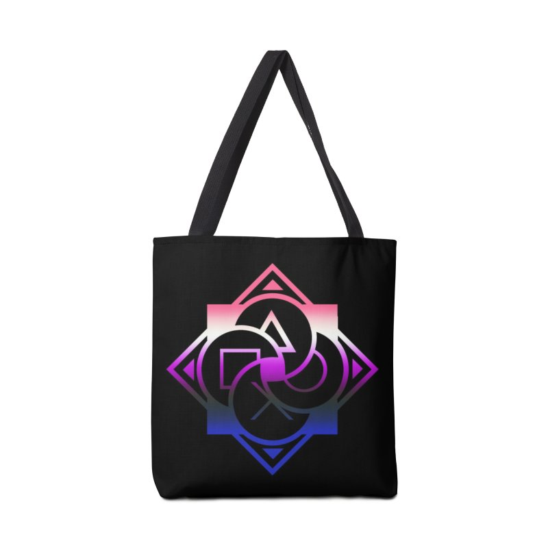 Logo - Genderfluid Pride Accessories Tote Bag Bag by Queer Women Game Loot
