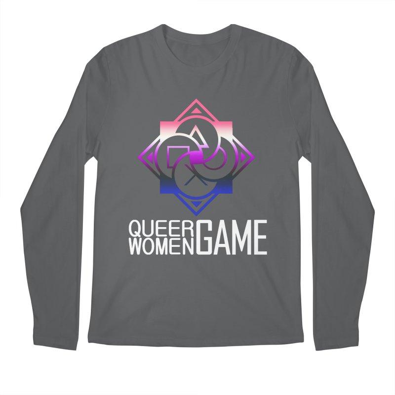 Logo & Text - Genderfluid Pride Men's Longsleeve T-Shirt by Queer Women Game Loot