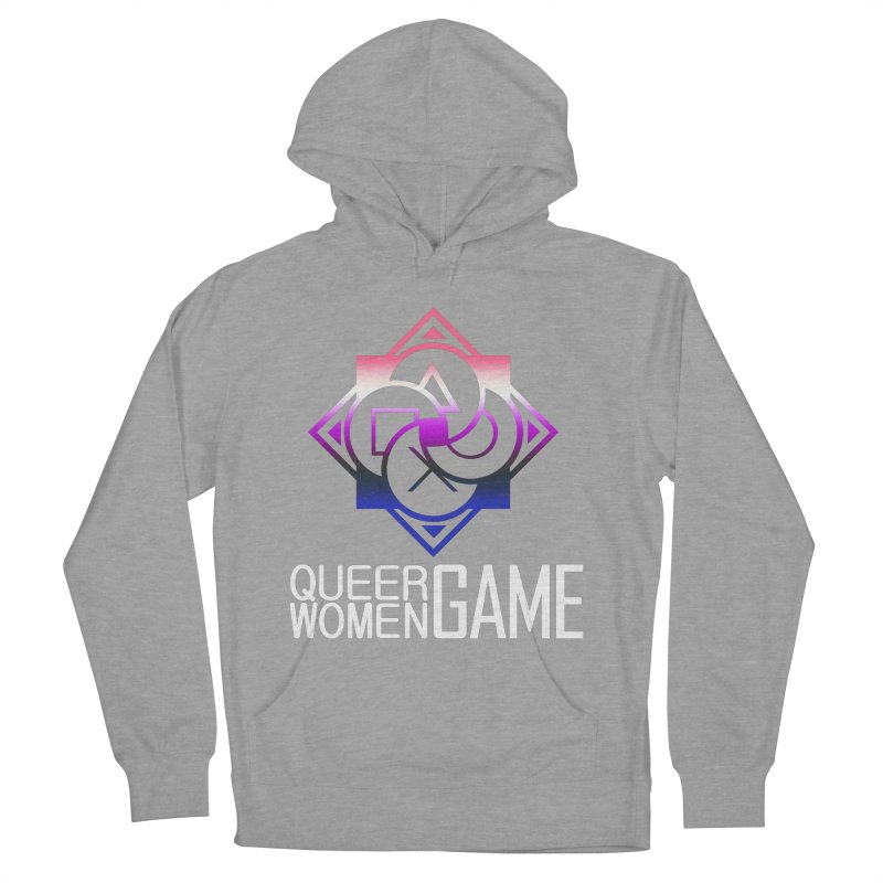 Logo & Text - Genderfluid Pride Women's French Terry Pullover Hoody by Queer Women Game Loot