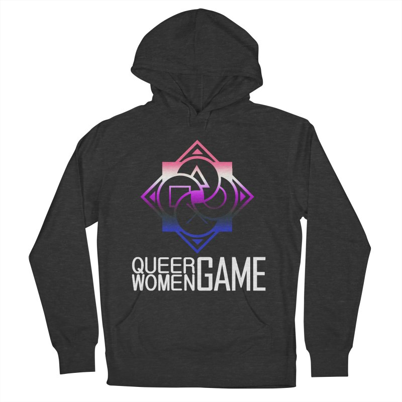 Logo & Text - Genderfluid Pride Men's French Terry Pullover Hoody by Queer Women Game Loot