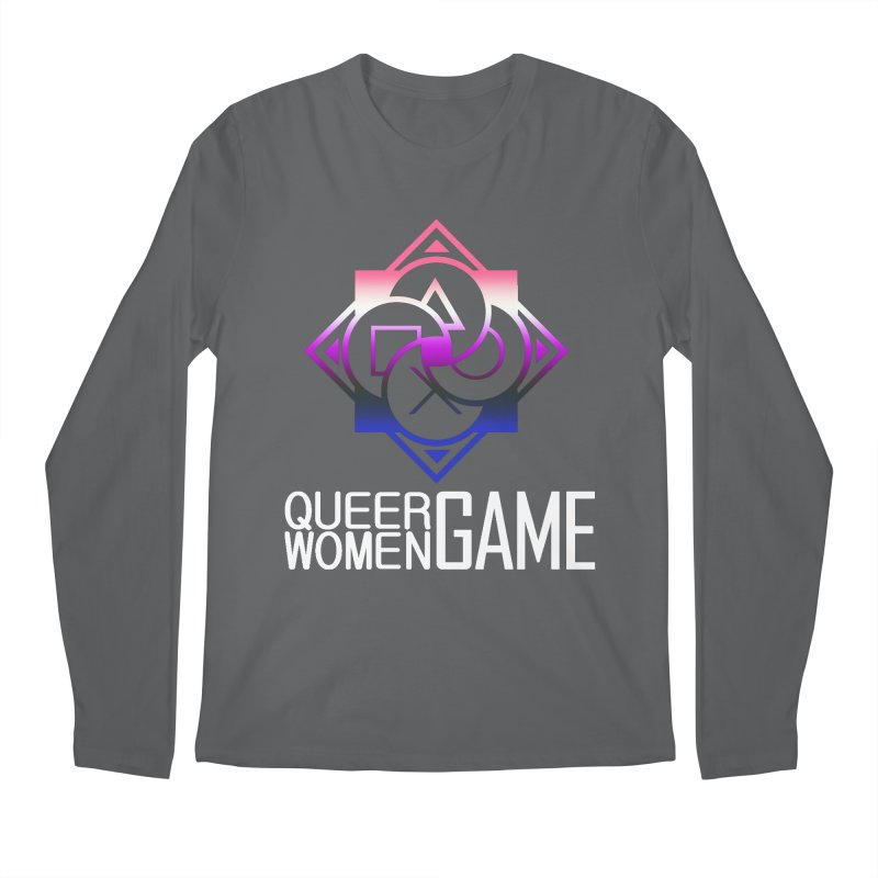 Logo & Text - Genderfluid Pride Men's Regular Longsleeve T-Shirt by Queer Women Game Loot