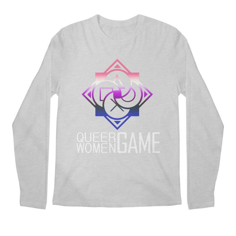 Logo & Text - Genderfluid Pride Men's Regular Longsleeve T-Shirt by Queer Women Game Loot