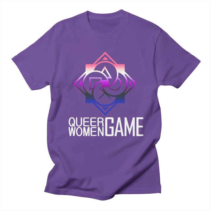 Logo & Text - Genderfluid Pride Men's Regular T-Shirt by Queer Women Game Loot