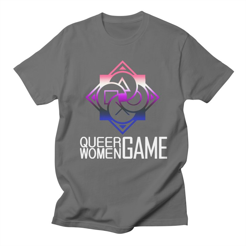 Logo & Text - Genderfluid Pride Men's T-Shirt by Queer Women Game Loot