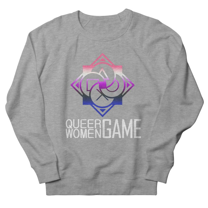 Logo & Text - Genderfluid Pride Women's French Terry Sweatshirt by Queer Women Game Loot