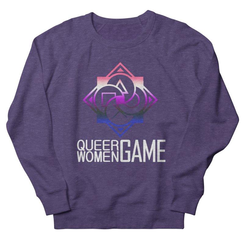 Logo & Text - Genderfluid Pride Men's French Terry Sweatshirt by Queer Women Game Loot