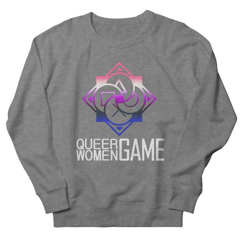 Logo & Text - Genderfluid Pride Men's Sweatshirt by Queer Women Game Loot