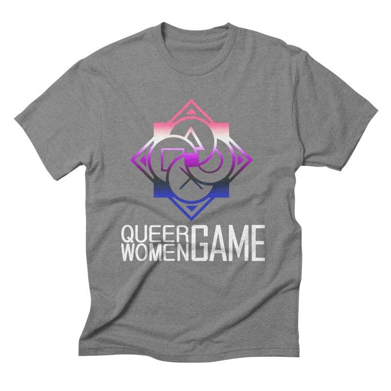 Logo & Text - Genderfluid Pride Men's T-Shirt by Queer Women Game Loot