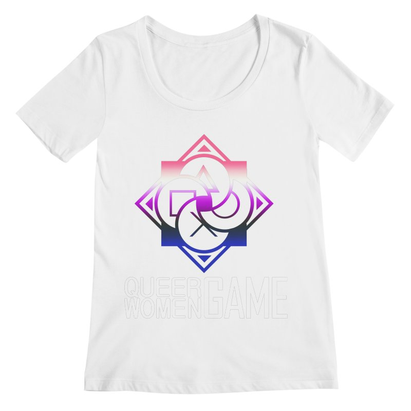 Logo & Text - Genderfluid Pride Women's Regular Scoop Neck by Queer Women Game Loot