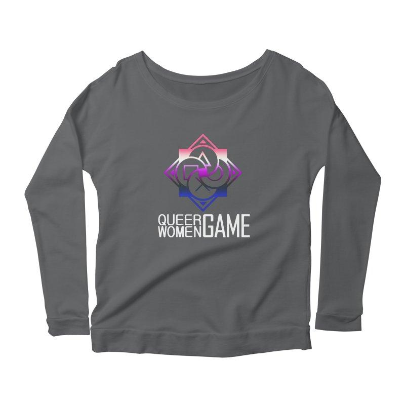 Logo & Text - Genderfluid Pride Women's Longsleeve T-Shirt by Queer Women Game Loot
