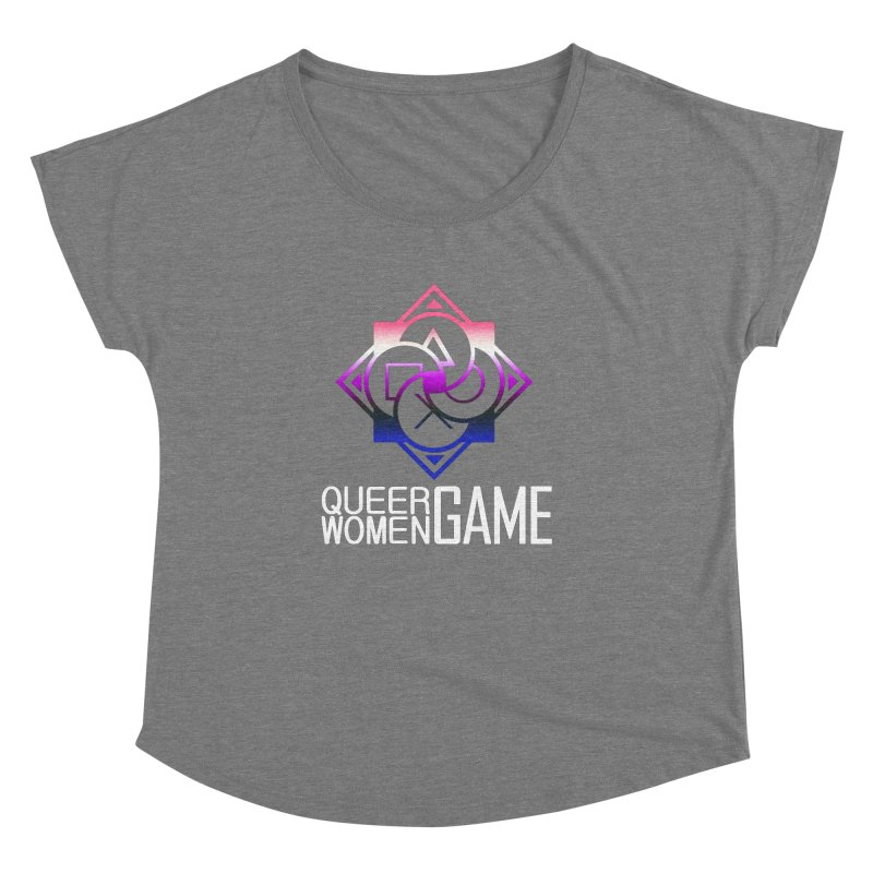 Logo & Text - Genderfluid Pride Women's Dolman Scoop Neck by Queer Women Game Loot