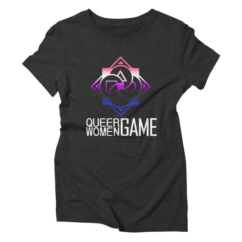 Logo & Text - Genderfluid Pride Women's Triblend T-Shirt by Queer Women Game Loot