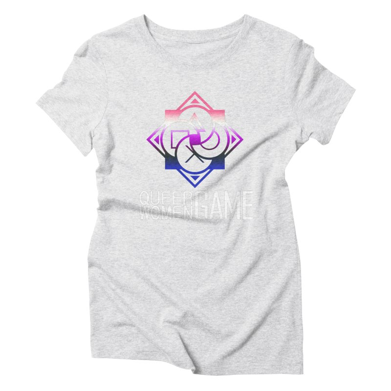 Logo & Text - Genderfluid Pride Women's Triblend T-Shirt by Queer Women Game Loot