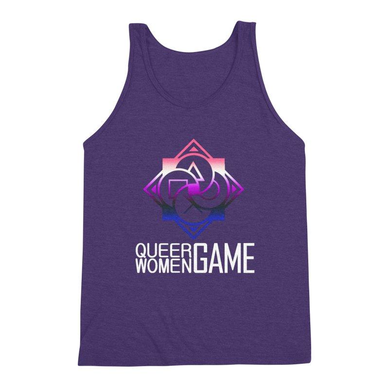 Logo & Text - Genderfluid Pride Men's Tank by Queer Women Game Loot