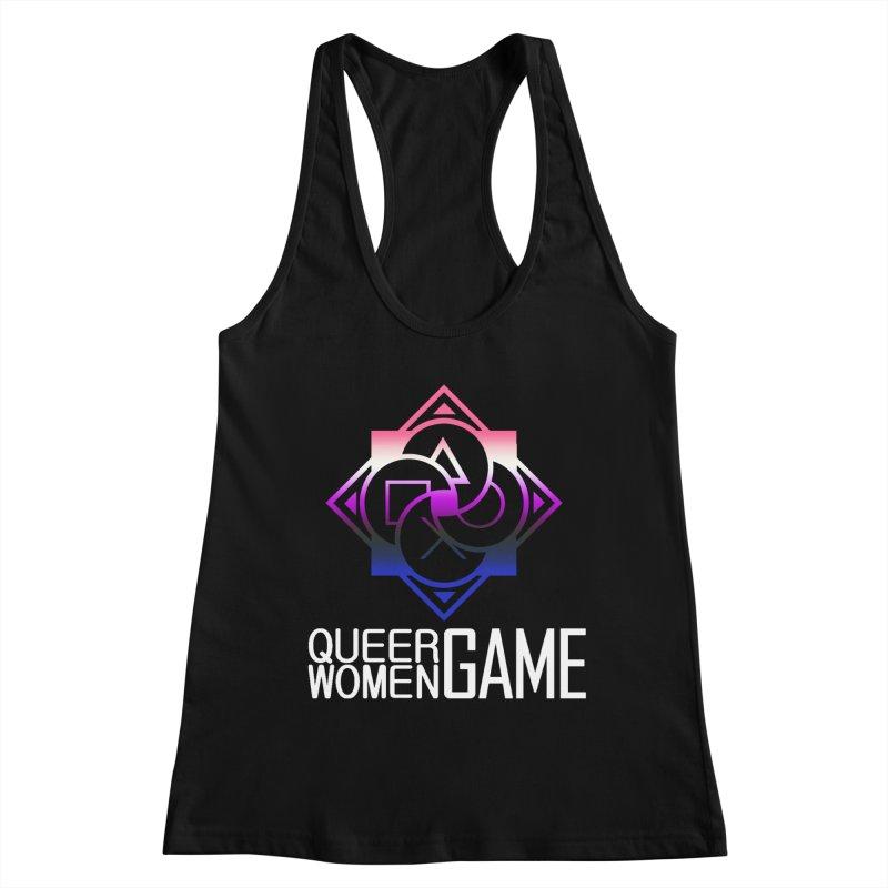 Logo & Text - Genderfluid Pride Women's Tank by Queer Women Game Loot